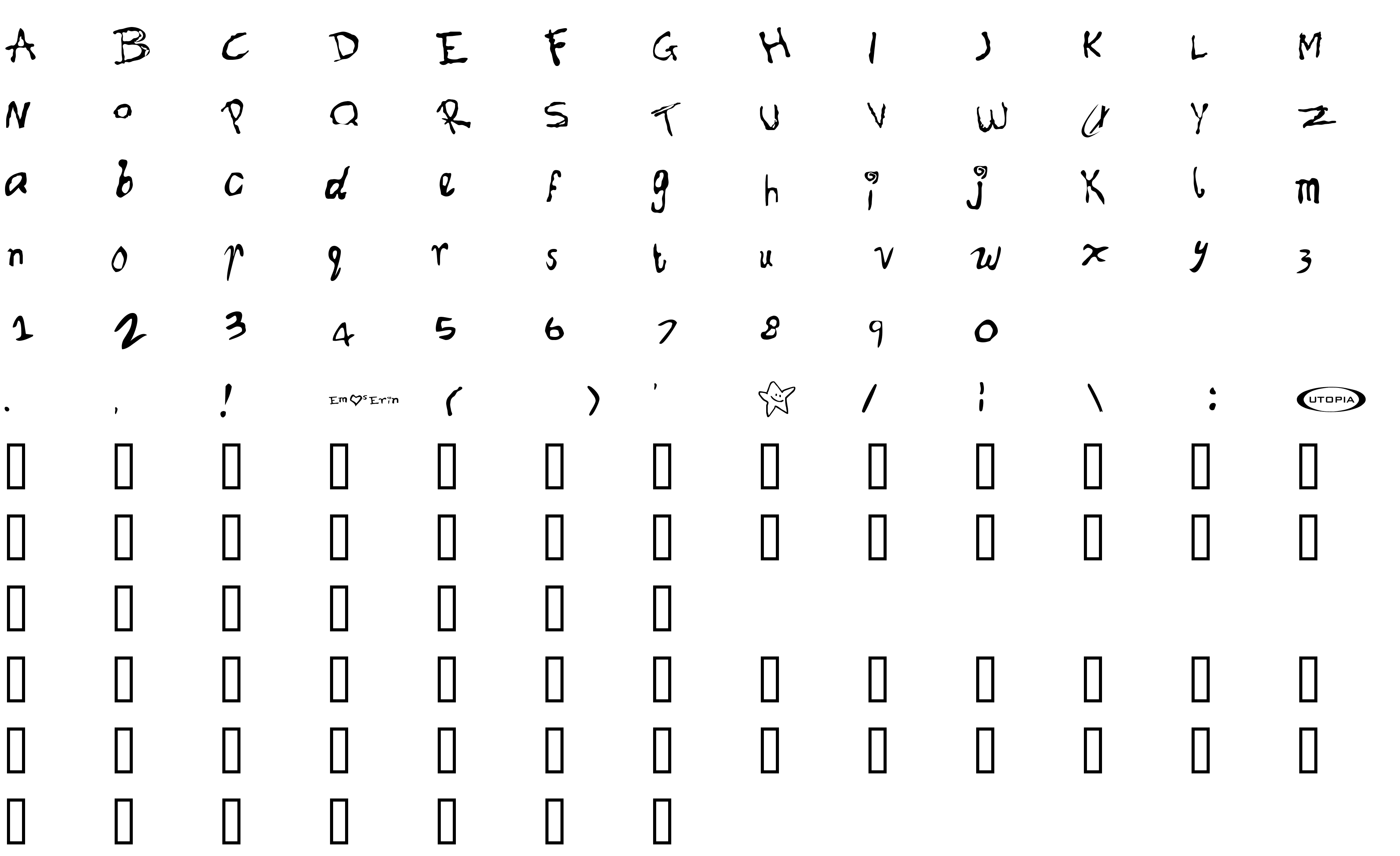 Шрифт Font for Erin