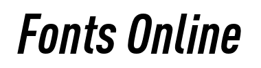 DIN Pro Condensed Bold Italic шрифт